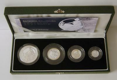 A 2005 United Kingdom Britannia Silver Proof 4 Coin Collection With COA