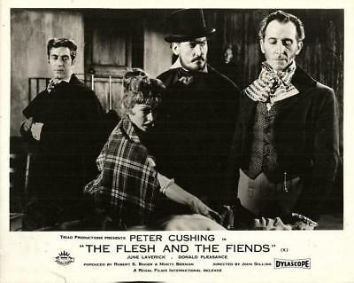 HAMMER HORROR STAR PETER CUSHING OVERLOOKS THE FLESH AND THE FIENDS ORIG FoH