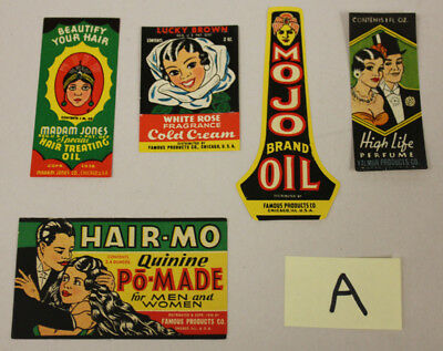 Vintage Product Labels (5), Black Americana African American Products (A)