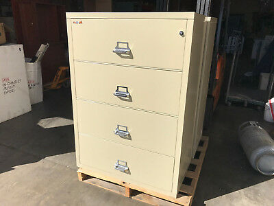 Used Fireking Fireproof 4 Drawer Lateral File Cabinet