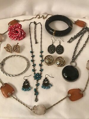Vintage to Now Estate Jewelry Lot EARRINGS NECKLACES BROOCHES BRACELETS #204