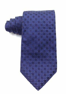 $325 HUGO BOSS Men's BLUE POLKA DOT SKINNY NECKTIE DRESS SILK NECK TIE 59x3