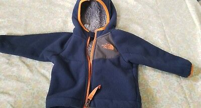 Authentic Baby Boys North Face Blue  Jacket Size 3-6 Months
