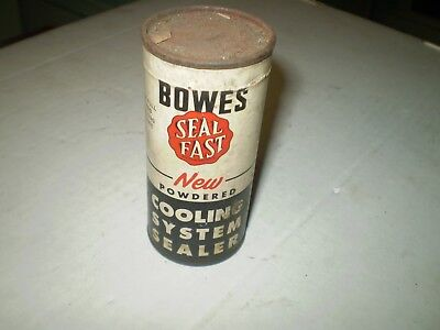 VINTAGE 1940's BOWES SEAL FAST CAN GREAT COLOR GREAT DISPLAY NOS