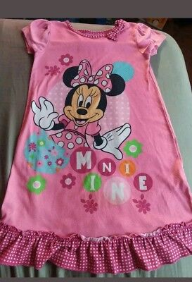 minnie mouse pajamas. nightgown 4T pink. Pj's.  Summer.