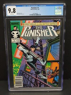 Marvel Punisher #1 1987 Cgc 9.8 White Pages 1St Issue Unlimited Series Newsstand