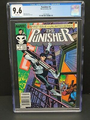 Marvel Punisher #1 1987 Cgc 9.6 White Pages 1St Issue Unlimited Series Newsstand
