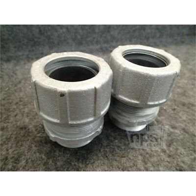 """Lot of 2 Cooper Crouse-Hinds CGB6915 Straight Body Male Thread Fitting 2"""""""