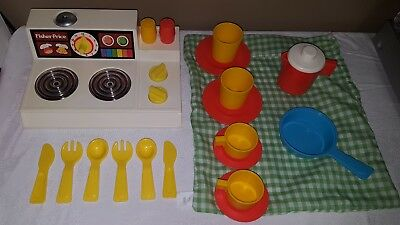 FISHER PRICE FUN With Food 919 Kitchen Set Vintage Stove ...