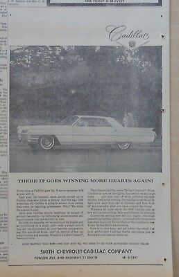 1964 newspaper ad for Cadillac - There it Goes Winning More Hearts Again!