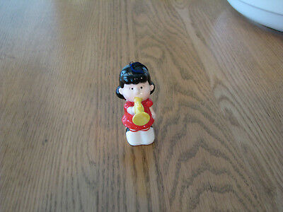 Vintage 1952 Peanuts Character Porcelain Ornament Lucy Blowing Trumpet By Ufs