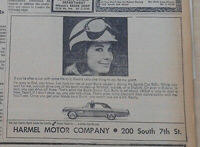 1964 newspaper ad for Buick - Get ready for Sports Car Rally with a Buick
