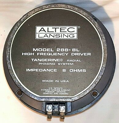 Altec Lansing 288-8L Compression Driver with high power OEM diaphragm