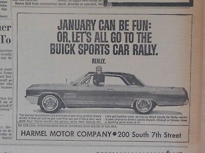 1964 newspaper ad for Buick - January can be fun was Buick Sports Car Rally