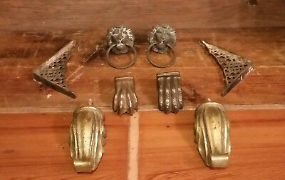 Lot Antique Vintage Architectural Metal Pieces Salvage Pulls Hardware and More!!