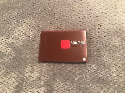Square Red Credit Card Reader-NEW, RARE