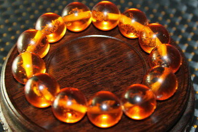 Chinese Decoration Handwork Exquisite Amber Inlay Lovely Bees Beautiful Bracelet