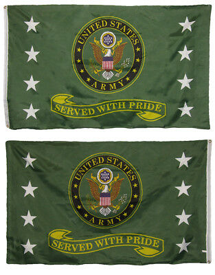 3x5 US Army Served With Pride 2 Faced Double Sided 2-ply Polyester Flag
