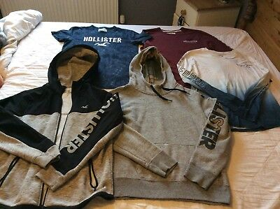 mens size small hollister bundle tops and hoodie