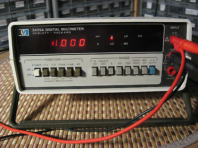HP3435A - WORKING/ CALIBRATED/ TESTED ON VIDEO - GREAT LOOKING! Manual & Leads