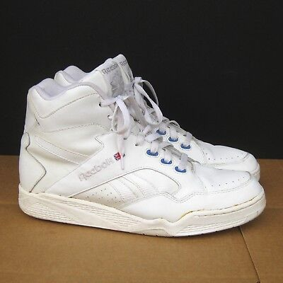 Vintage Reebok High Tops Shoes Mens Size US 12 White on White 80s Classic Hi  Top d70d788a7