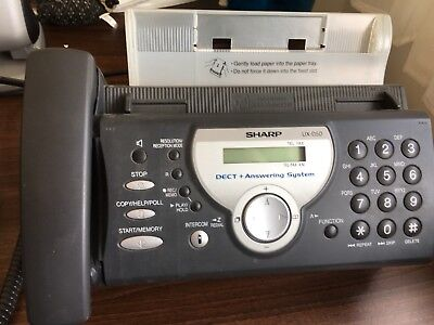 Sharp UX D50 Used fax machine with re fill rolls
