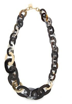 Ashley Pittman Horn and Bronze Link Necklace