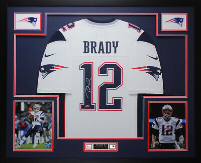 huge discount 81159 af23b TOM BRADY AUTOGRAPHED & Framed White Patriots Jersey Auto Tristar COA D24-L