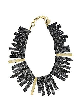 Ashley Pittman Horn and Bronze Statement Necklace