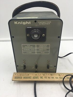 Estate Vintage Allied Knight Capacitor Checker Eye Indication