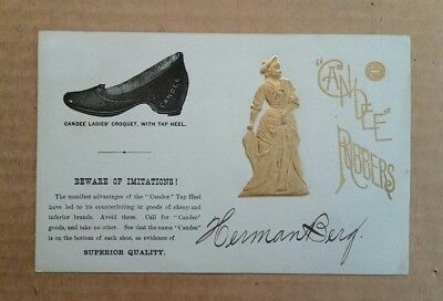 Candee Rubbers,Rubber Shoes & Boots,Trade Card,1880's