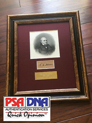 JOHN QUINCY ADAMS * PSA/DNA * Authentic AUTOGRAPH * SIGNED Clipped Free Frank