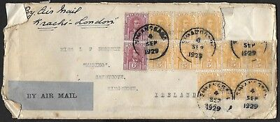 1929     Registered Envelope With 20 Stamps Attached