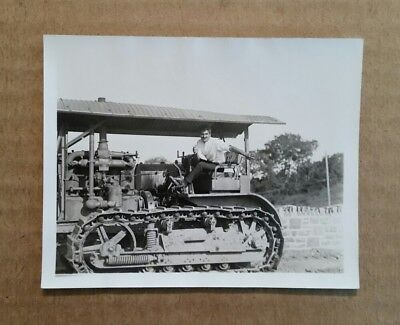 Caterpillar Tractor,VINTAGE Photo,July 1931