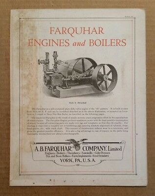 Farquhar Engines & Boilers,A.B.Farquhar Co.York,Pa.,Sales Brochure,1910's