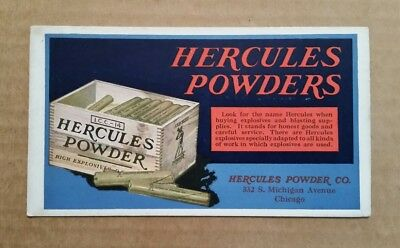 Hercules Powders,Hercules Powder Co.Chicago,Ill.,Ink Blotter,1930's
