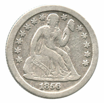 1856-O Seated Liberty Silver Dime Cleaned