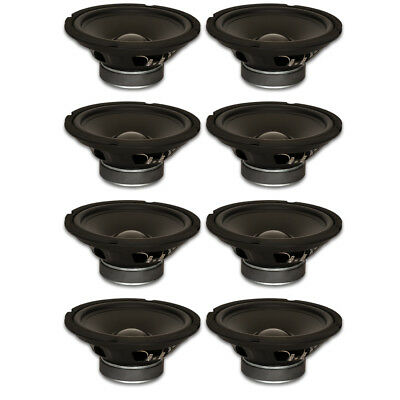 "8 Goldwood Sound GW-8028 Rubber Surround 8"" Woofers 190W each 8ohm Speakers"