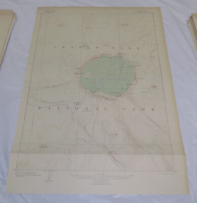 1903 Topographic Map of CRATER LAKE SPECIAL MAP, KLAMATH COUNTY, OREGON