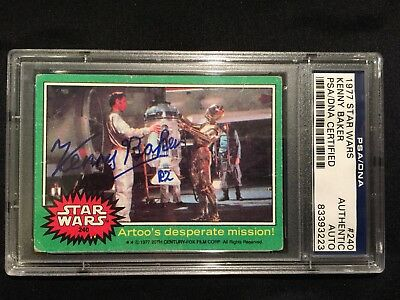 Star Wars PSA/DNA certified Kenny Baker Signed 1977 Topps card autograph