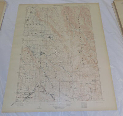 1906 Topographic Map TELOCASET QUADRANGLE/WILLOVA/UNION COUNTY/OREGON