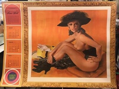 HAROLDS CLUB RENO -  LADIES OF WEST - WALL CALENDAR 1969 FOUR PAGES,  26x20