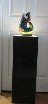 Vtg. Black Lighted Display Pedestal, 30X10X10.