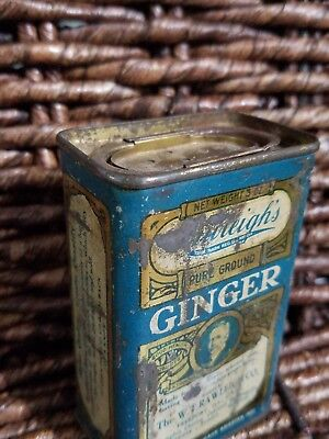 Antique Vintage Spice Tin RAWLEIGH'S,  Vtg. Grocery Store, GINGER