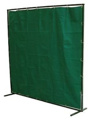 Langley WELDING CURTAIN 6 X 6 FT FIBREGLASS SCREEN FLAME RETARDANT WITH FRAME