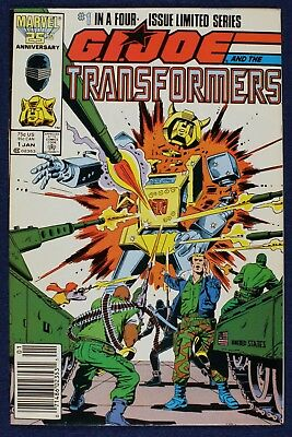 G.I. Joe and the Transformers #1-4 Complete Set. (Nov 1986, Marvel) High Grade