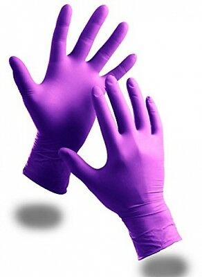 100 x Extra Strong Purple Powder Free Nitrile Disposable Gloves (Small) - Comes