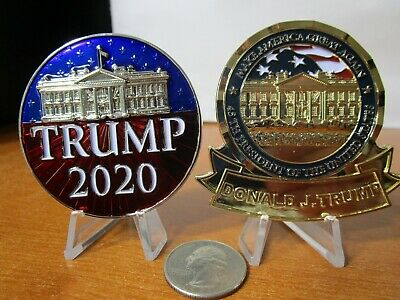 2 Challenge Coins President Donald Trump MAGA & Keep America Great 2020 POTUS