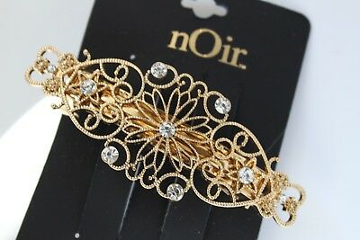 Nordstrom Noir Crystal Bridal Hair Clip Jeweled Gold Headpiece Chic Rhinestone N