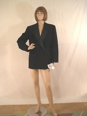 Christian Dior Womens Black Tuxedo Blazer/jacket Size 12 (Nwt)
